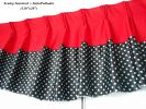 "Scalop (SATIN POLKADOT + INTERLOCK) (120""X20"") Interlock Plain Interlock Curtain Curtain"
