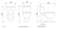 Flaco 3888 Washdown Close Coupled Water Closet