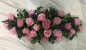 Long and Low Artificial Roses (BA-195) Long And Low Flower Arrangement Basket Arrangement