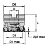 VXF™-07 ・ Shell Mills ・ Metric VXF-07 High Feed Copy Mill  Widia  Indexable Milling