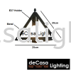 Set Of 5 With 1M Long Base Designer Decorative Triangle Pendant Light Loft Design PENDANT LIGHT