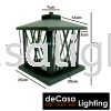 Black Pillar Light Weather Proof Outdoor 25cm Gate Light Outdoor Pillar Light OUTDOOR LIGHT