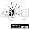 Vintage Wall Light Loft LED Wall Light Spider Wall Mounted Lights Bedroom Decorative Loft Design WALL LIGHT