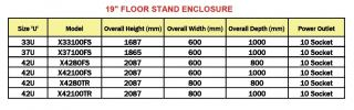 Ego V X-Series 19 Inch Floor Stand Enclosure Floor Stand Enclosures