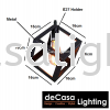 NSB-Z1044-BK-3RB Loft Design PENDANT LIGHT