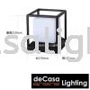 20cm Modern Black Cube Outdoor Pillar Light Decasa Lighting Weather Proof Outdoor Pillar Light OUTDOOR LIGHT