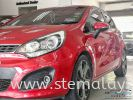 Kia Rio Signal Red treated with our STE Coating.  Kia Completed Job STE Coating