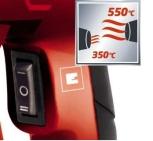 EINHELL HOT AIR GUN 230V 2000W 350 OR 550 DEGREE C, AIR FLOW: 300L OR 500L/MIN, MODEL: TC-HA2000/1