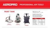 Aeropro RP8312 Paint Tank with Spray Gun 10L ID30995  Air Paint Sprayer / Air Brush / Air Cleaning Gun  Air / Pneumatic Tools