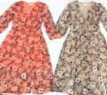 13378 V-NECK FLORAL DRESS 【1ST 10% 2ND 15% 3RD 20%】