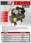 Eurox EAX1060 1HP 60Liter Belt Driven Air Compressor ID31495 Europower & Eurox & Robintec  Air Compressor