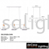 Modern Pendant Light (OS-D1525-3WH) Loft Design PENDANT LIGHT