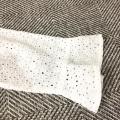 78555 Plus Size Mesh Lace Sleeve Blouse