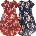 19559 PLUS SIZE FLORAL RUFFLE DRESS【1st 10% 2nd 20% 3rd 30%】
