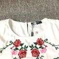 20507 PLUS SIZE BENNYPHIL EMBROIDERED BLOUSE【30% 40% 50%】
