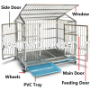 Stainless Steel Dog Cage (Roof) Pet Cage Pet Supplies
