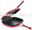 Double Sided Grill Fry Pan (Red) Kitchen Dining Home Living