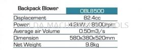 Ogawa OBL8500 Backpack Blower 82.4cc  Agriculture