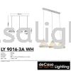 PENDANT LIGHT (LY9016-3LB-WH) Loft Design PENDANT LIGHT