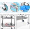 【RM175.00】2 Layer Stainless Steel Hospital Trolley Clinic Lab Cart with Wheels Handle Nurse Dentist Specialist Serving Medical Medical Supplies Health & Beauty