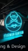 Fishman Canteen Neon Light Signage - light blue Neon Light