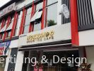 Stainless steel 3d box up + back light LED Spandrel Signboard