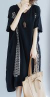 Korean Oversized Linen Dress 801235 Japanese Designer - Mia Formal