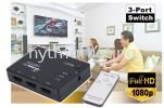 HDMI 3-In to 1-Out Switcher CCTV System