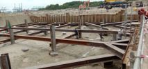 Temporary Sheet Piles Cofferdam for Accident Water Buffering Pool  & Rain Water Tank Sheet Piling Project References