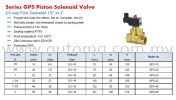 "High Temperature Solenoid Valve, 1/2~2"" #GPS GP Solenoid Valve"