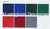 Wooden Frame Velcro Notice Board Sliding Glass Cabinet Notice Board White Board (AF)