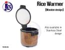 Stainless Steel Rice Warmer (Wood design) Rice Warmer Food Storage