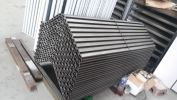 Steel bench-mild steel laser cut pattern with 2k painting Welding Iron Work, Laser Cutting Pattern, Other
