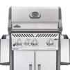 Napoleon Rogue® 365SB (Full Black) with Range Side Burner Gas BBQ Grill Napoleon Gas Grills