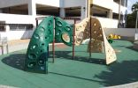 Recycled Rubber Pigmented Tiles Playground Surfacing