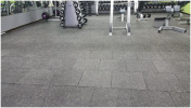 Recycled Rubber Fitness Square Tiles Gym & Fitness Surfacing