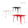 Erica metal dining table T20 Dining set