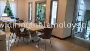 Luxury Beige Dining Table | Nuvalato | 8 Seaters Marble Dining Table