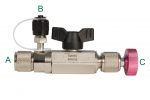 32525-1/2'-20UNF REFCO Vacuum Rated Charging & Evacuation Valve (R410A/32) Performance Vacuum Equipment Tools & Accessories