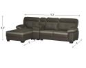 HY-2 3300-3R+con L Shape Sofa Sofa Series Living Room Series