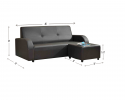 HY-1 11-3+SL L Shape Sofa Sofa Series Living Room Series