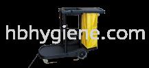 Janitor Trolley Cart c/w Cover Mop Bucket Trolley