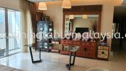 Luxury marble dining table | Dark Emperador | 8 Seaters Marble Dining Table
