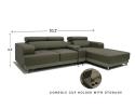 HY-2 332-3L+CON+SL L Shape Sofa Sofa Series Living Room Series
