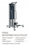 ADJUSTABLE HI/LO PULLEY IT9525    IT Series Strength Machine Commercial GYM