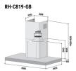 Pre-Order RH-C819-GB Cooker Hood Rinnai