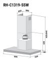 Pre-Order RH-C1319-SSW Cooker Hood Rinnai