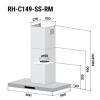 Pre Order RH-C149-SS-RM Cooker Hood Rinnai