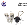 4Pcs Sauce Holder Cruet Set Glass Sauce Holder Kitchen Tools