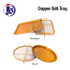 Square And Round Copper Crisper Tray Food Pan Food Storage